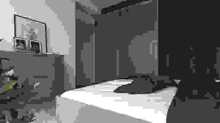 İdea Mimarlık Small bedroom Wood Grey