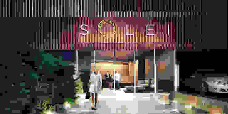 Acceso Edificio Solei de www.mwarq.com Moderno