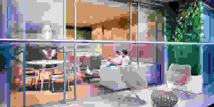 Balcon | Edificio Solei de www.mwarq.com Moderno