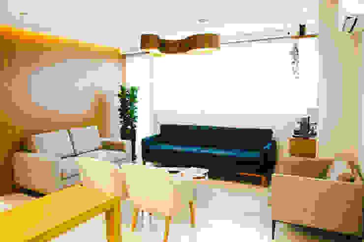 Sala de espera de clínica C2HA Arquitetos Clínicas ecléticas