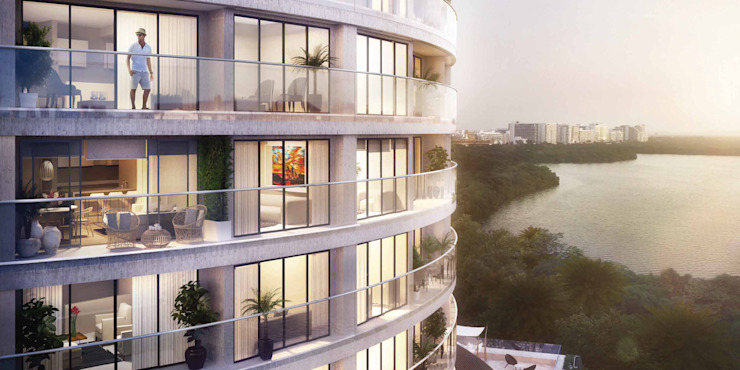 Fachada | Edificio Solei de www.mwarq.com Moderno