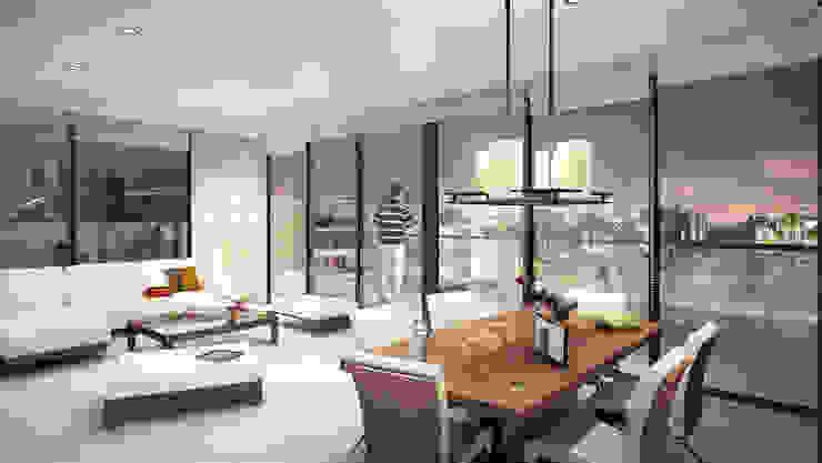 Penthouse | Condominio Barceloneta Comedores de estilo moderno de www.mwarq.com Moderno