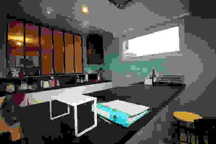 Agence ADI-HOME 置入式廚房 刨花板 White