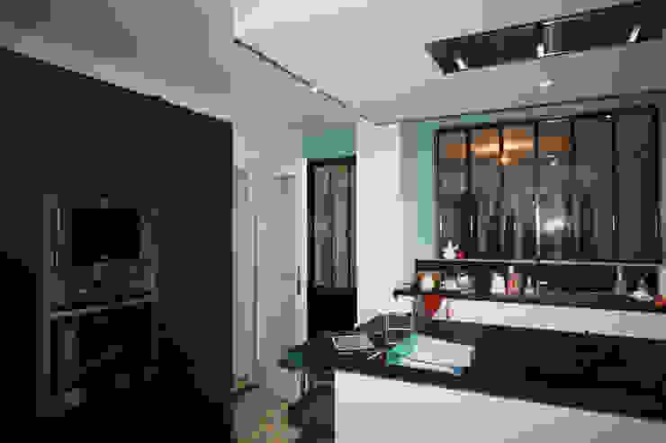 Agence ADI-HOME 置入式廚房 磚塊 White