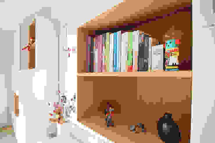 Agence ADI-HOME Ruang Keluarga Modern Kayu Wood effect