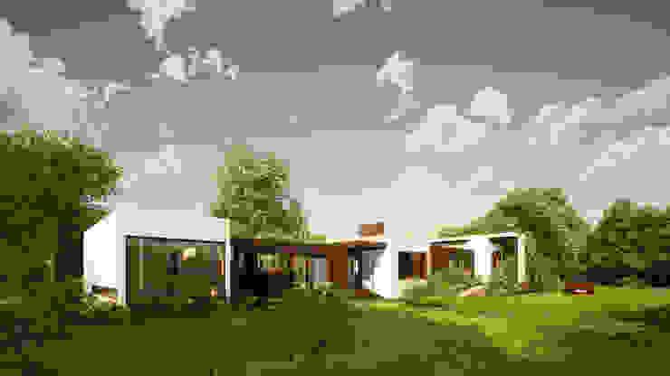 FACHADA PRINCIPAL 02 Casas de estilo minimalista de LiberonArquitectura Minimalista Tablero DM