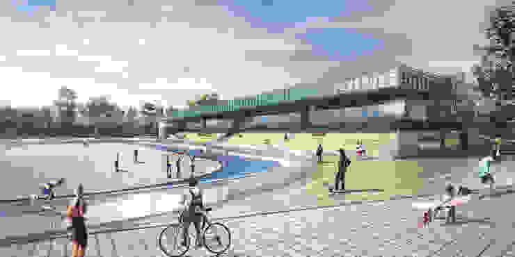 Proyecto deportivo en El Retiro de Cóncavas Ingenieros y Arquitectos Moderno