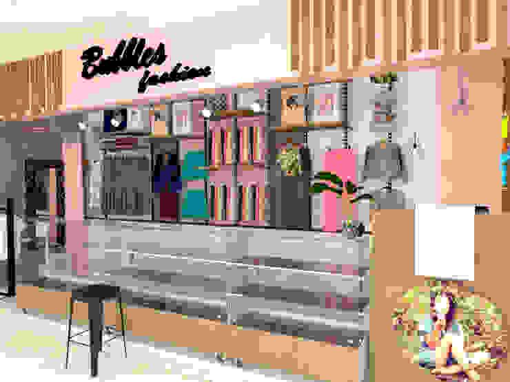 almacen femenino de Naromi Design Moderno Compuestos de madera y plástico