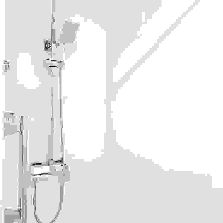 Ремонт в душевой комнате г. Красногорск, Павшинский бульвар. Ванная комната в стиле модерн от Прямой Угол Модерн