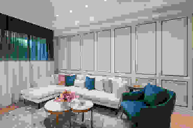 純淨 现代客厅設計點子、靈感 & 圖片 根據 伏見設計事業有限公司 現代風
