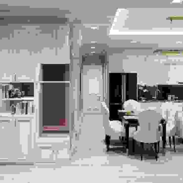 BELLEZA - Nơi tinh hoa của SG. Phòng ăn phong cách Bắc Âu bởi Thiết kế nội thất ICONINTERIOR Bắc Âu