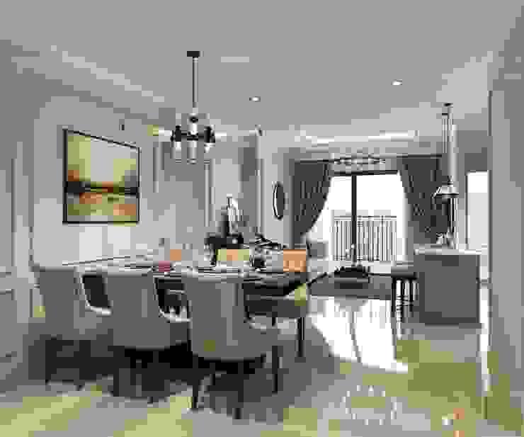 Chung Cư Golden Mansion – 119 Phổ Quang, Phường 09, Phú Nhuận Phòng ăn phong cách hiện đại bởi Thiết kế nội thất ICONINTERIOR Hiện đại
