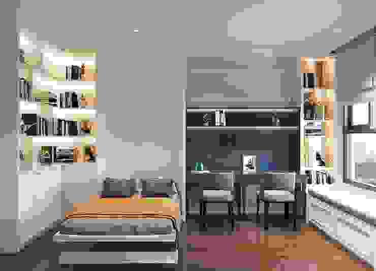 Chung Cư Golden Mansion – 119 Phổ Quang, Phường 09, Phú Nhuận Phòng ngủ phong cách hiện đại bởi Thiết kế nội thất ICONINTERIOR Hiện đại