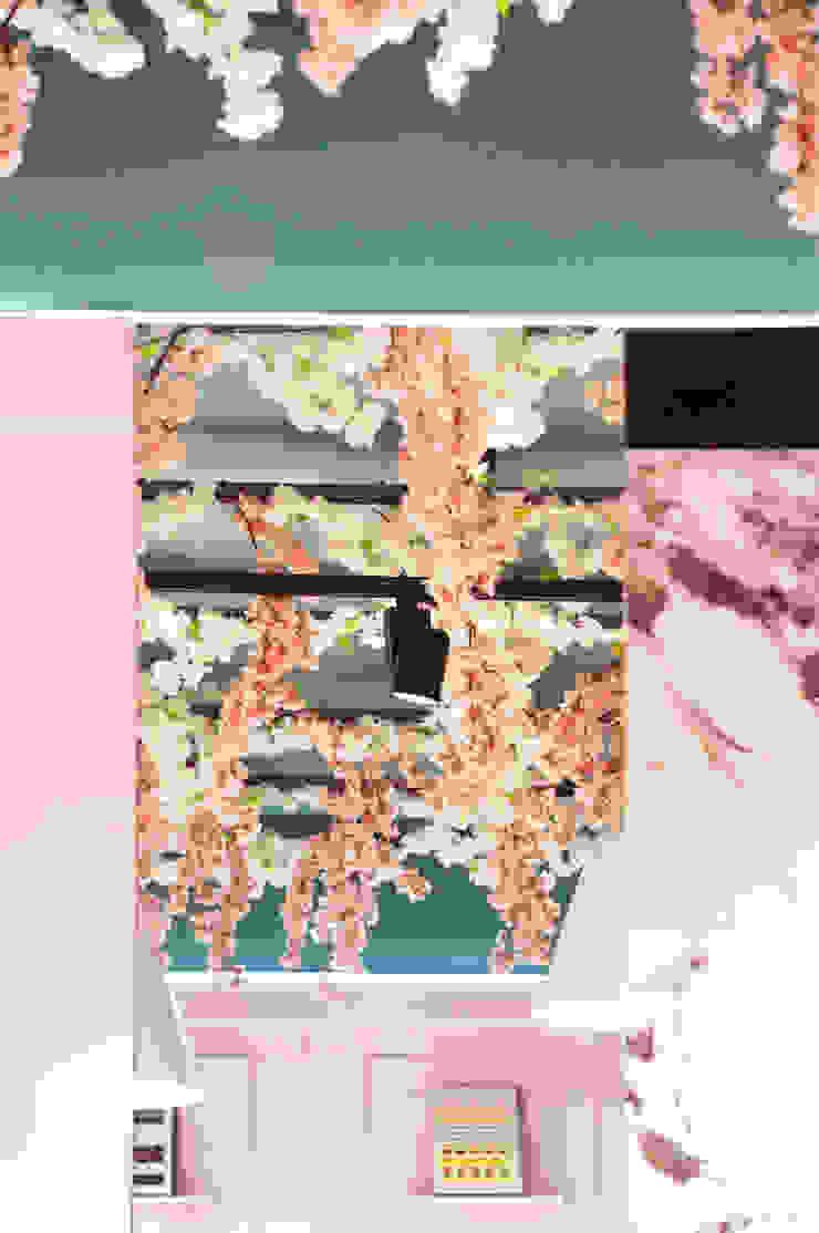 Vista del soffitto ricoperto di fiori Negozi & Locali commerciali in stile classico di viemme61 Classico