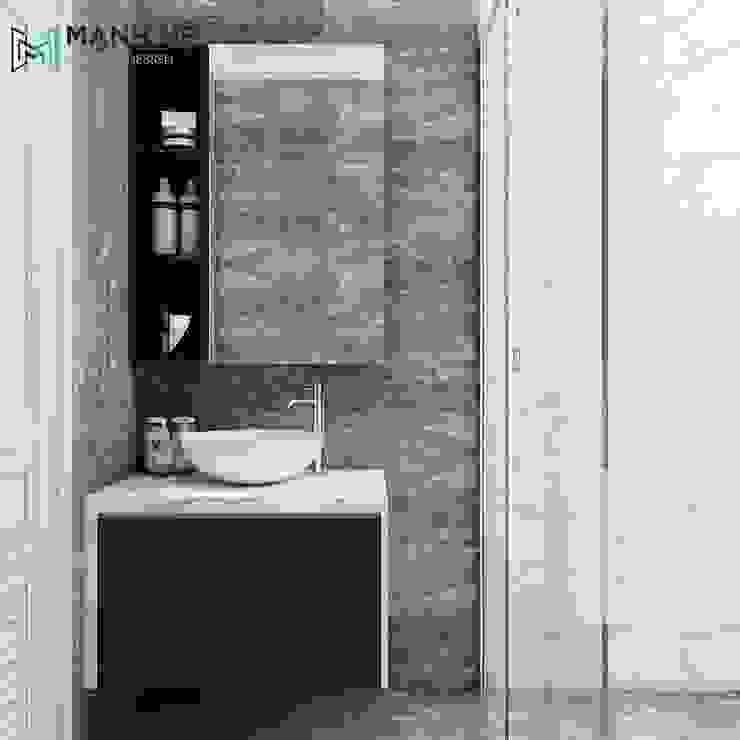 Nhà tắm trong phòng ngủ hiện đại Phòng tắm phong cách hiện đại bởi Công ty TNHH Nội Thất Mạnh Hệ Hiện đại