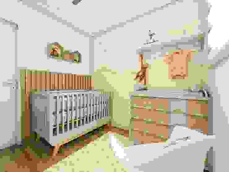 Lis Figueiredo Arquitetura e Interiores Дитяча кімната Дерево Жовтий