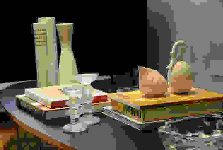 Enzo Sobocinski Arquitetura & Interiores Ruang Keluarga Modern Kayu Buatan Yellow