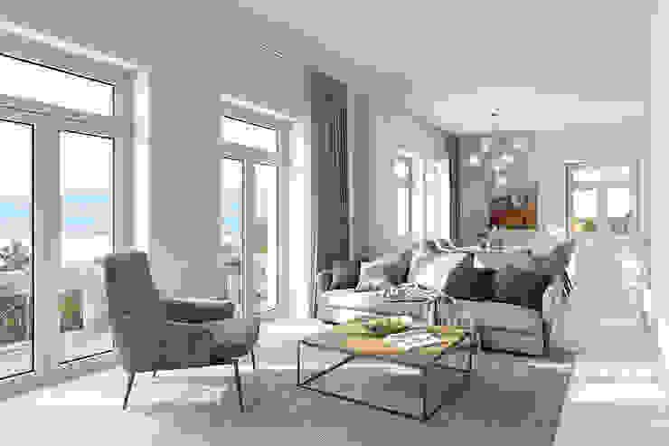 Wohnzimmervisualisierung PerspektiveEins Klassische Wohnzimmer