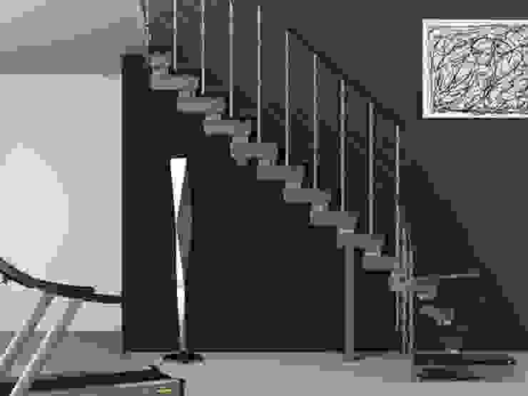 Escalera para Interiores de RINTAL Moderno Madera maciza Multicolor