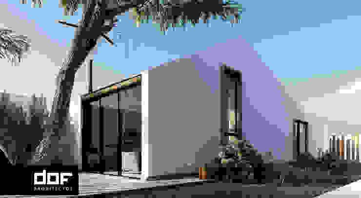 Cara lateral Casas de estilo minimalista de DOF Arquitectos Minimalista Madera Acabado en madera