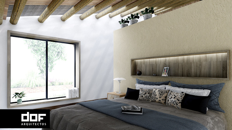 Dormitorio Dormitorios de estilo minimalista de DOF Arquitectos Minimalista Madera Acabado en madera