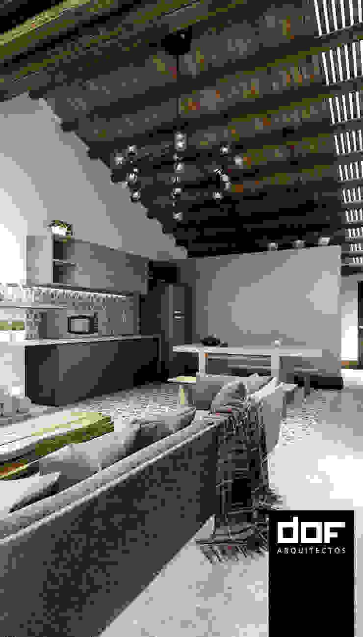 Kitchenette Cocinas de estilo minimalista de DOF Arquitectos Minimalista Madera Acabado en madera