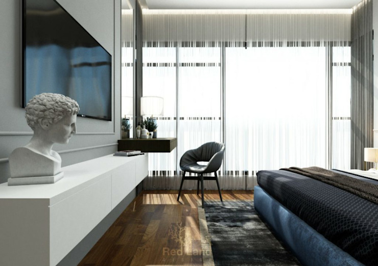 The Modern English by YENNY LEOW Red Land Design Modern style bedroom