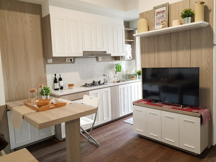 Greenlake Apartment Oleh Interior Kaka Permata Mediteran Kayu Lapis