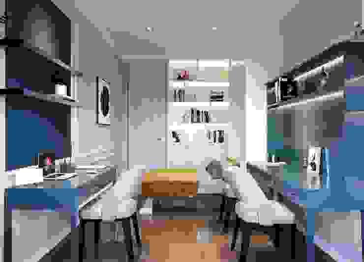 Biến tấu thiết kế nội thất căn hộ Golden Masion đẹp mê ly Thiết kế nội thất ICONINTERIOR Hành lang, sảnh & cầu thang phong cách hiện đại