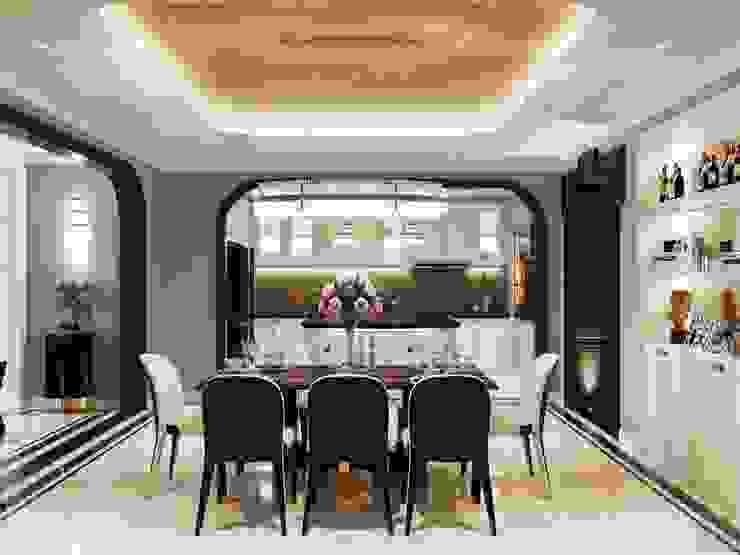 Opal tower – Thiết kế căn hộ Opal Tower giàu xúc cảm trong đường cong quyến rũ Thiết kế nội thất ICONINTERIOR Phòng ăn phong cách hiện đại