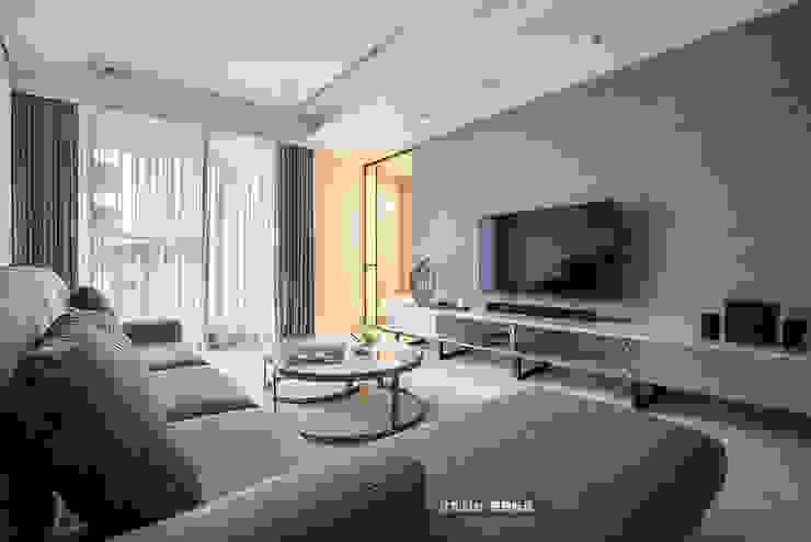 客廳 现代客厅設計點子、靈感 & 圖片 根據 欣和室內裝修有限公司 現代風