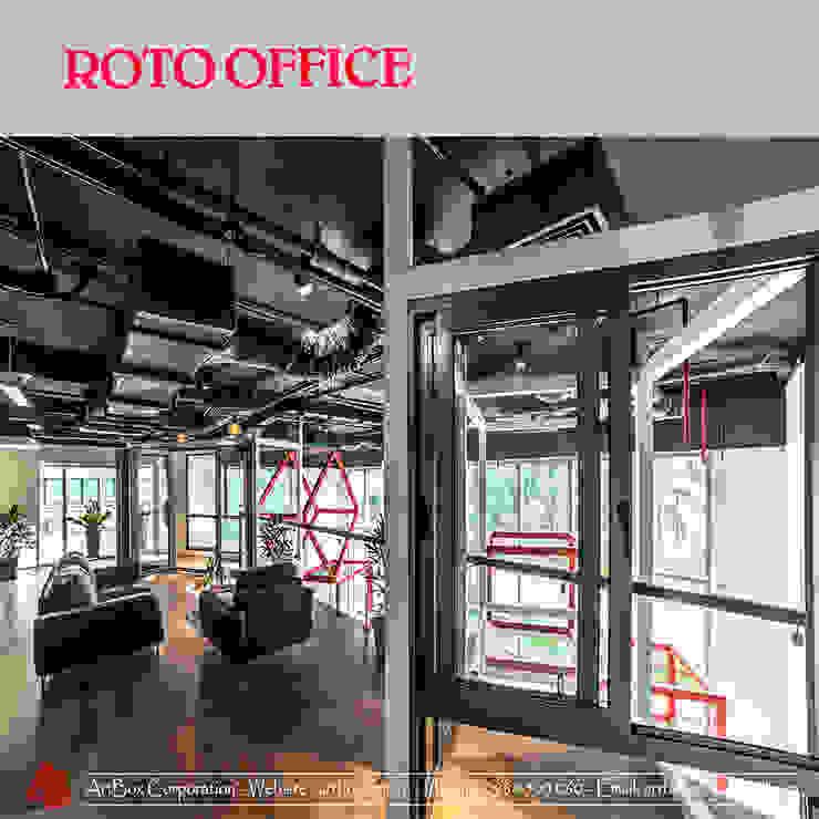 Thiết kế nội thất văn phòng Roto Phòng học/văn phòng phong cách hiện đại bởi ARTBOX Hiện đại