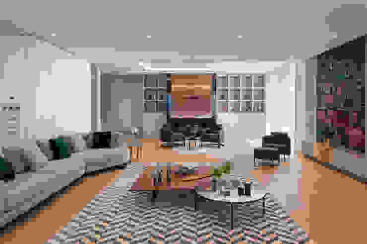 Teos Konut Projesi Oturma Alanı Modern Oturma Odası mobilite mimarlik Modern