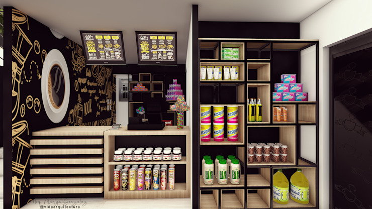 Vida Arquitectura Office spaces & stores Wood Wood effect