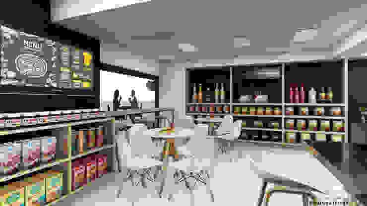 Vida Arquitectura Modern Dining Room Wood effect