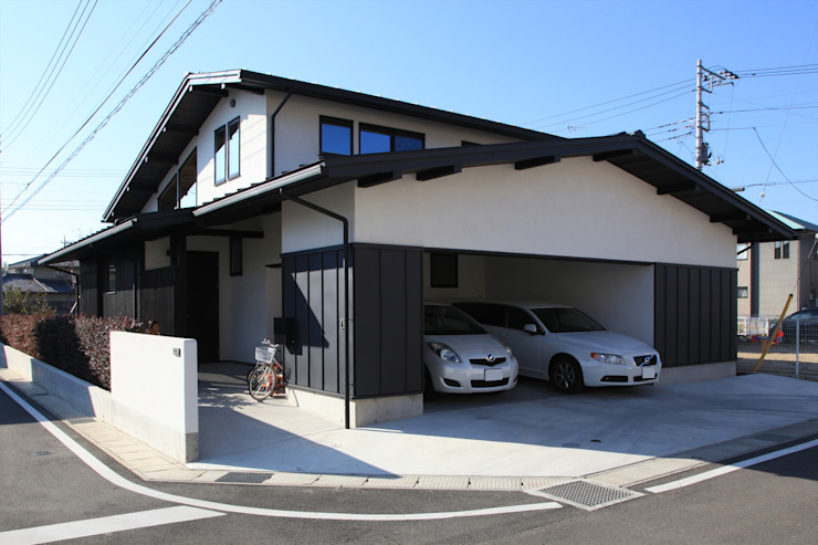 Asian style garage/shed by 田村建築設計工房 Asian