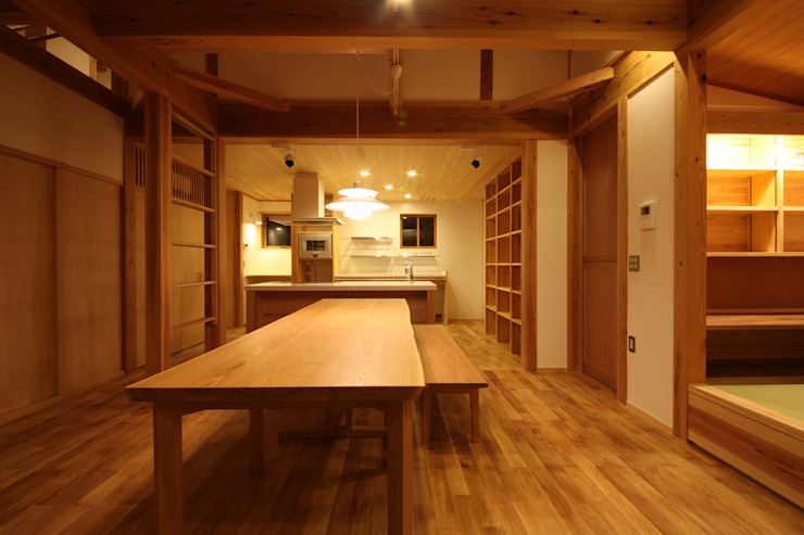 Asian style dining room by 田村建築設計工房 Asian