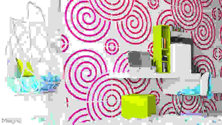 Diseño Interior de Habitación Infantil Architecture Means Recámaras para niñas Contrachapado Rosa