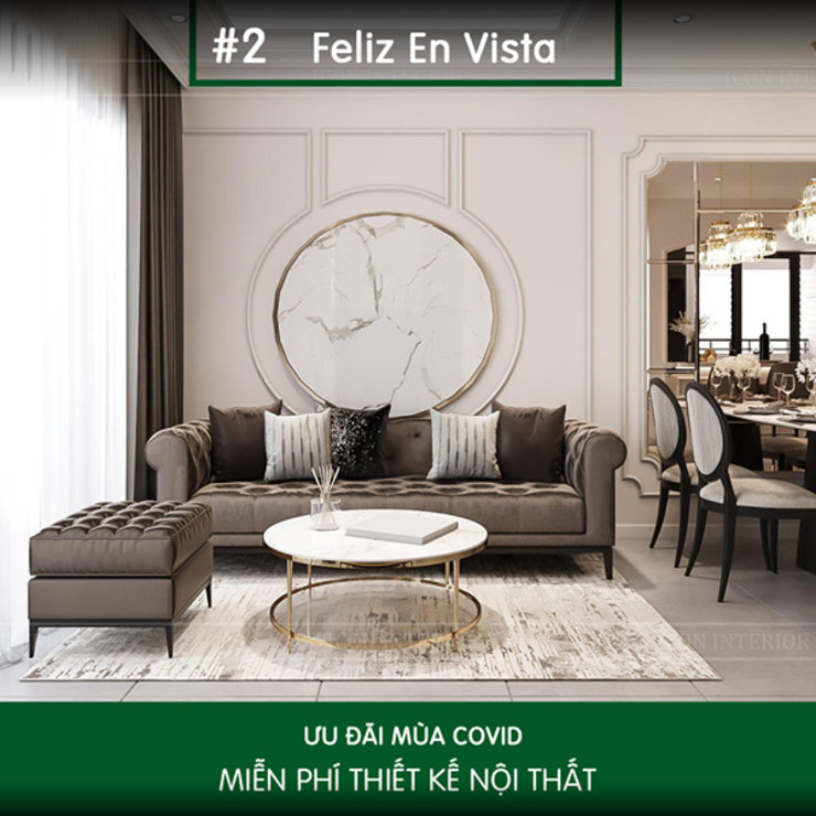 Thiết kế nội thất ICONINTERIOR Livings de estilo moderno