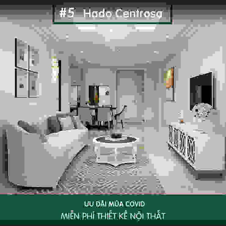 Hà Đô Centrosa và mẫu thiết kế nội thất dậy sóng Thiết kế nội thất ICONINTERIOR Phòng khách