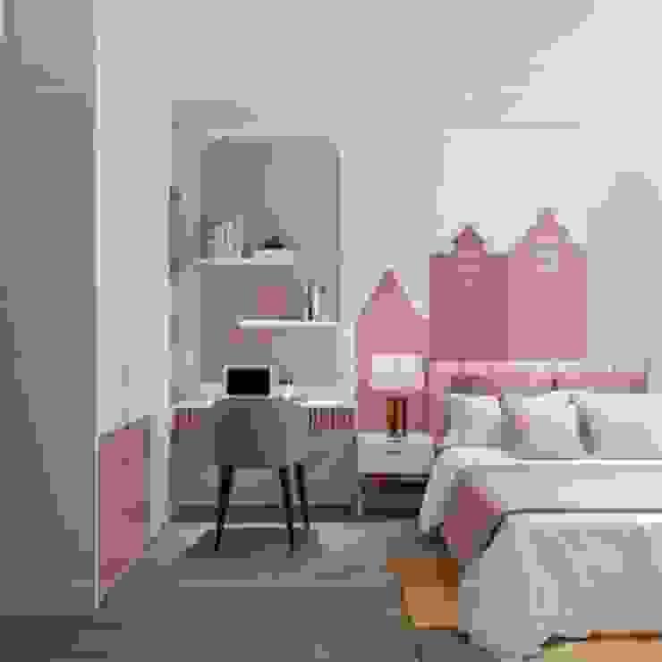 Hà Đô Centrosa và mẫu thiết kế nội thất dậy sóng Thiết kế nội thất ICONINTERIOR Phòng ngủ phong cách hiện đại