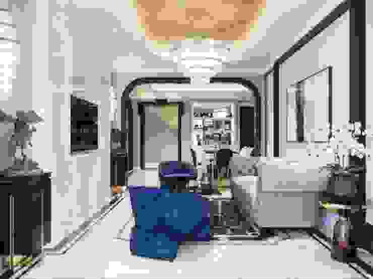 Sốc trước ý tưởng thiết kế cực sang trọng của căn hộ Sunwah Pearl bởi Thiết kế nội thất ICONINTERIOR Hiện đại