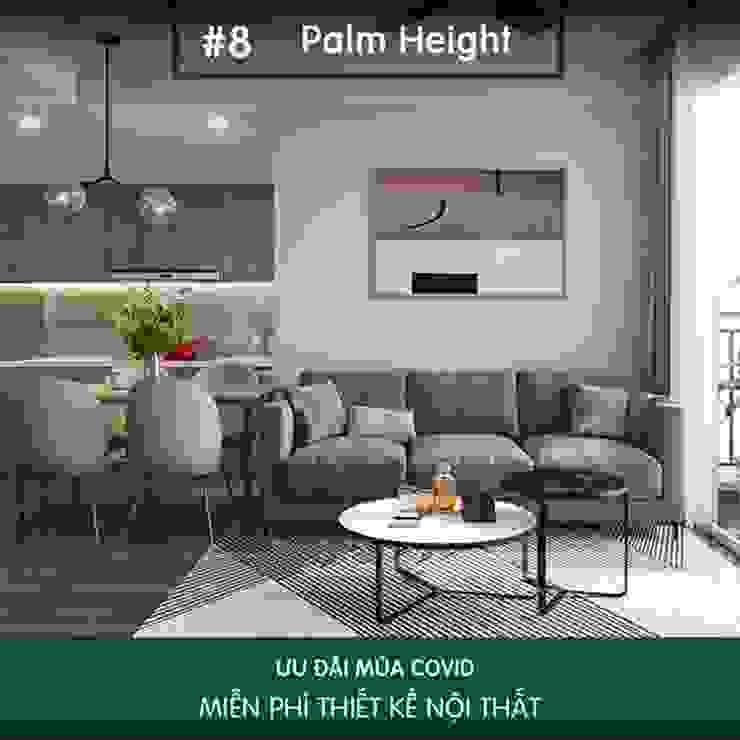 Bị thuyết phục bởi nét đẹp tinh tế trong thiết kế nội thất Palm Height bởi Thiết kế nội thất ICONINTERIOR Hiện đại