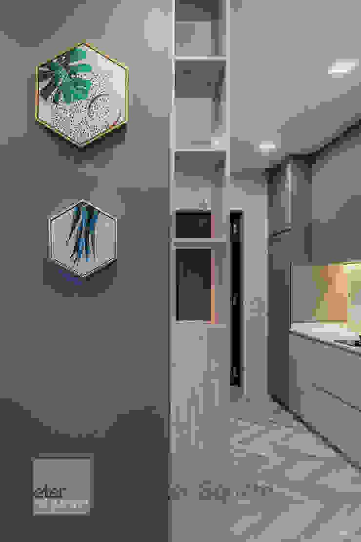 Warm Elegance Meter Square Pte Ltd Modern kitchen Solid Wood Grey