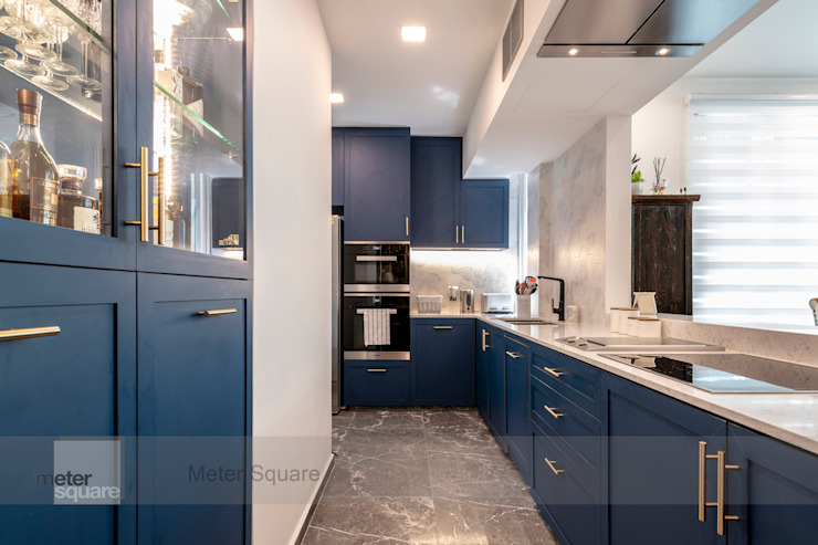 Modern Indochina Mediterranean style kitchen by Meter Square Pte Ltd Mediterranean Solid Wood Multicolored