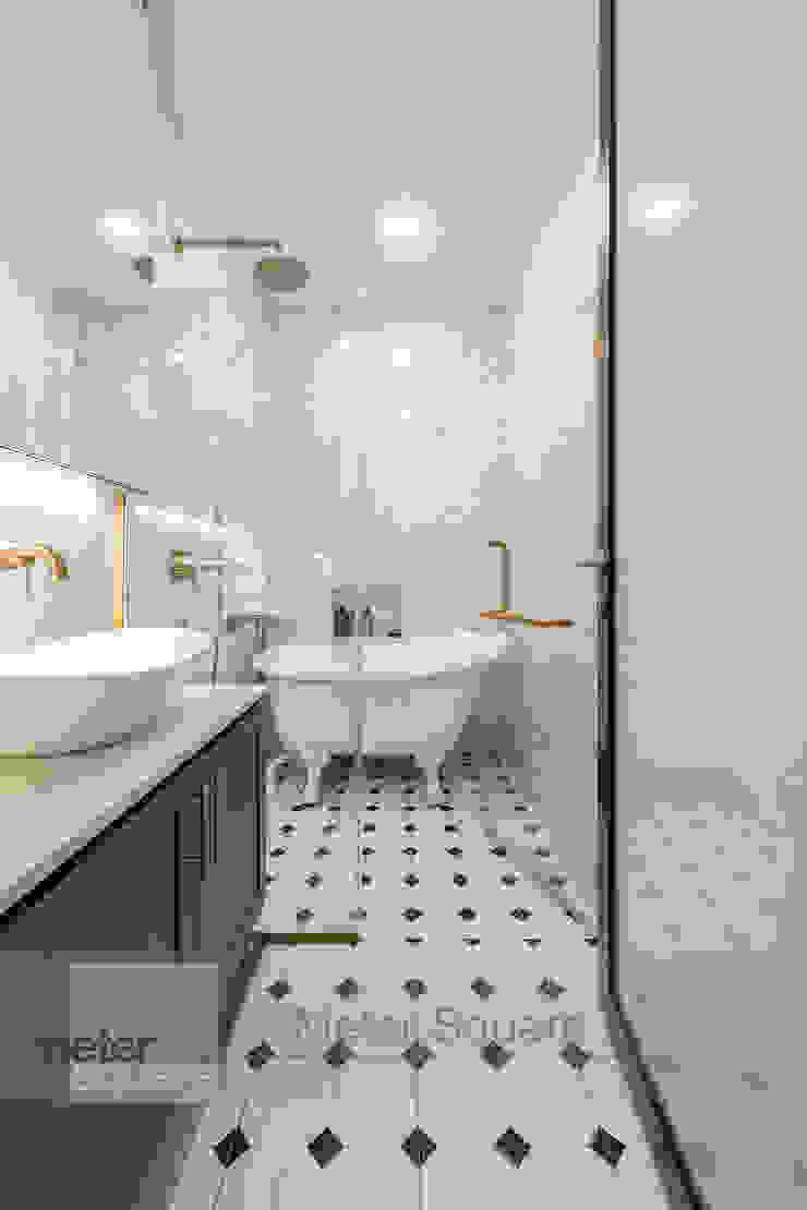 Modern Indochina Mediterranean style bathroom by Meter Square Pte Ltd Mediterranean Tiles
