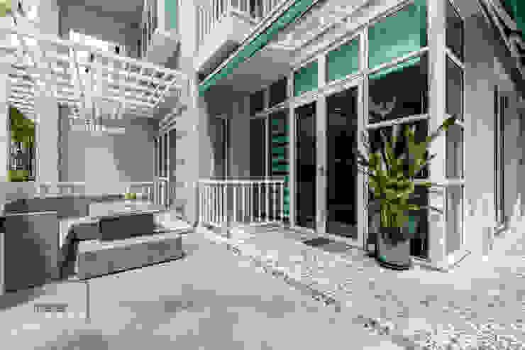Modern Indochina Mediterranean style garden by Meter Square Pte Ltd Mediterranean Tiles