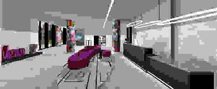 Ro Pinheiro Modern corridor, hallway & stairs