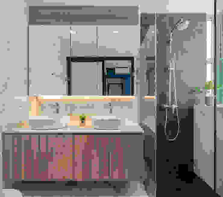 Scandinavian Luxury Meter Square Pte Ltd Scandinavian style bathroom Marble White