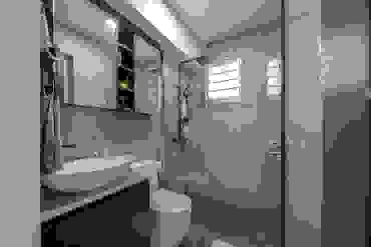 Blue Industrial Chic Industrial style bathroom by Meter Square Pte Ltd Industrial Tiles